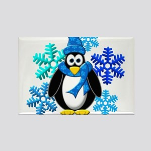 Penguin Snowflakes Winter Design Magnets