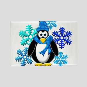 Penguin Snowflakes Winter Design Magnets