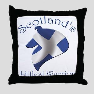 Scotland's Littlest Warrior Throw Pillow