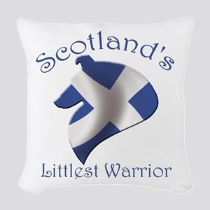 Scotland's Littlest Warrior Woven Throw Pillow