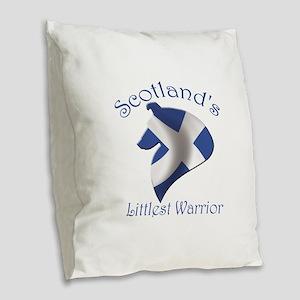 Scotland's Littlest Warrior Burlap Throw Pillow