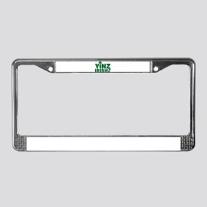 Yinz irish License Plate Frame