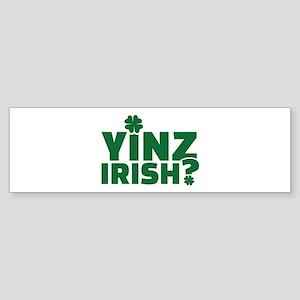 Yinz irish Sticker (Bumper)