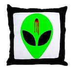 Dead Alien Throw Pillow