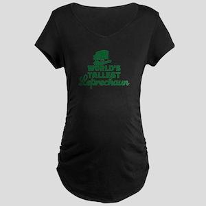 World's tallest Leprechaun Maternity Dark T-Shirt