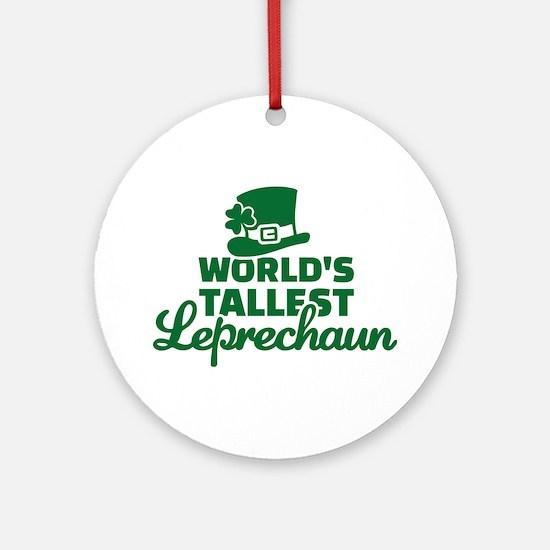 World's tallest Leprechaun Ornament (Round)
