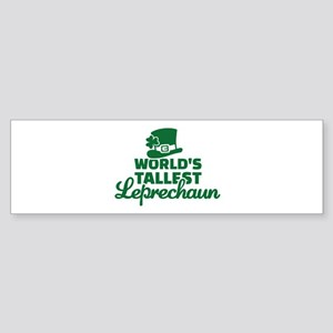 World's tallest Leprechaun Sticker (Bumper)