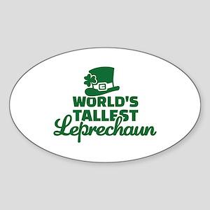 World's tallest Leprechaun Sticker (Oval)
