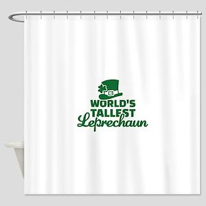World's tallest Leprechaun Shower Curtain