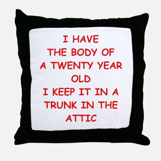 sic joke Throw Pillow