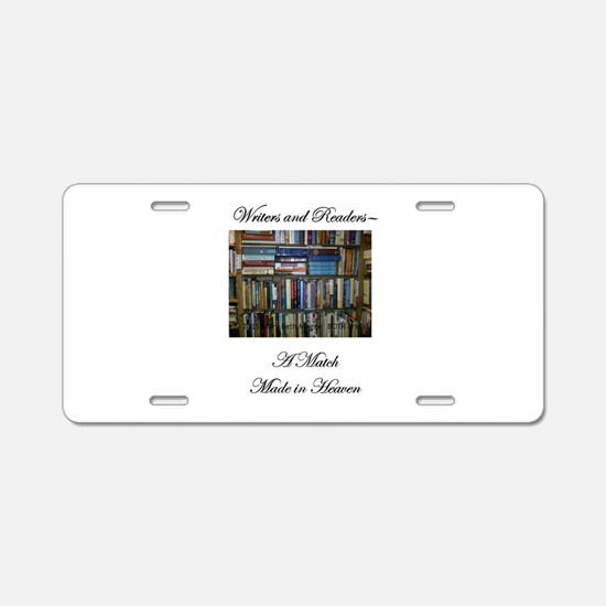 Writers and Readers Aluminum License Plate