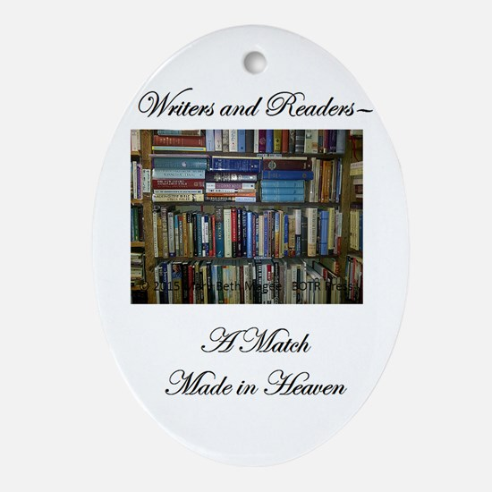Writers and Readers Ornament (Oval)