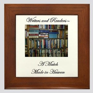 Writers and Readers Framed Tile