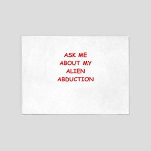 alien abduction 5'x7'Area Rug