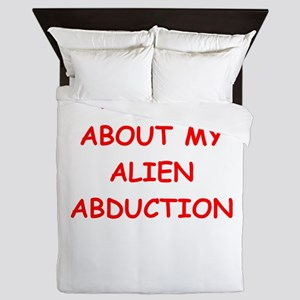 alien abduction Queen Duvet