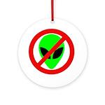 No More Aliens Ornament (Round)