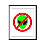 No More Aliens Framed Panel Print