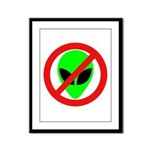 No More Aliens Framed Panel Print
