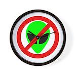 No More Aliens Wall Clock