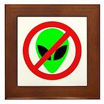 No More Aliens Framed Tile