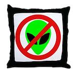No More Aliens Throw Pillow