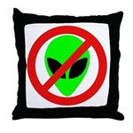 No More Aliens Throw Pillow