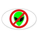 No More Aliens Oval Sticker