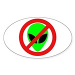No More Aliens Oval Sticker