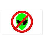 No More Aliens Rectangle Sticker