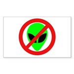 No More Aliens Rectangle Sticker