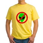 No More Aliens Yellow T-Shirt