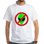 No More Aliens White T-Shirt