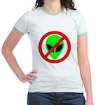 No More Aliens Jr. Ringer T-Shirt