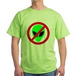 No More Aliens Green T-Shirt