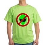 No More Aliens Green T-Shirt