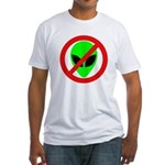 No More Aliens Fitted T-Shirt