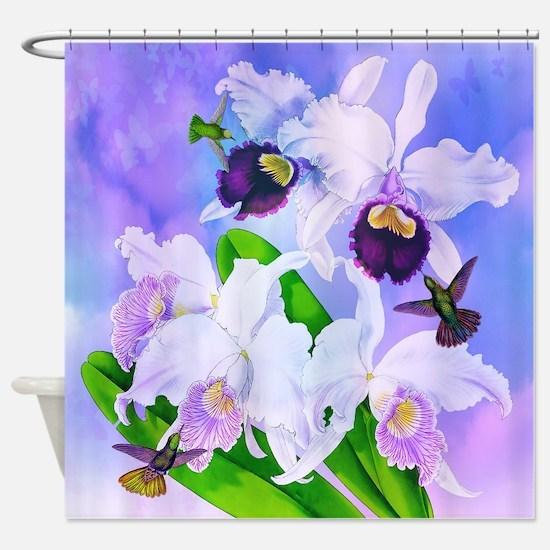 Dazzlin' Hummingbird Cattleya Ochid Shower Cur