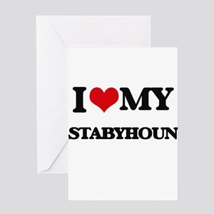 I love my Stabyhoun Greeting Cards