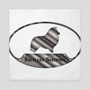 Shetland Sheepdog Plaque (T) Queen Duvet