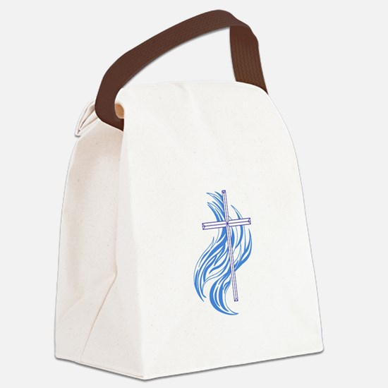 METHODIST CROSS Canvas Lunch Bag