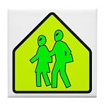 Alien School Xing Tile Coaster