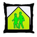 Alien School Xing Throw Pillow