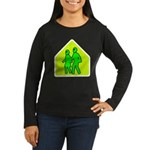 Alien School Xing Women's Long Sleeve Dark T-Shirt