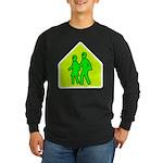Alien School Xing Long Sleeve Dark T-Shirt