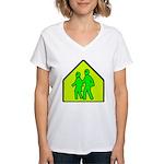 Alien School Xing Women's V-Neck T-Shirt