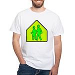 Alien School Xing White T-Shirt