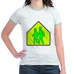 Alien School Xing Jr. Ringer T-Shirt