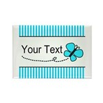 Personalizable Teal Butterfly Magnets