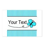 Personalizable Teal Butterfly Postcards (Package o