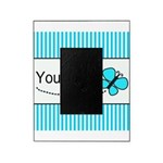 Personalizable Teal Butterfly Picture Frame